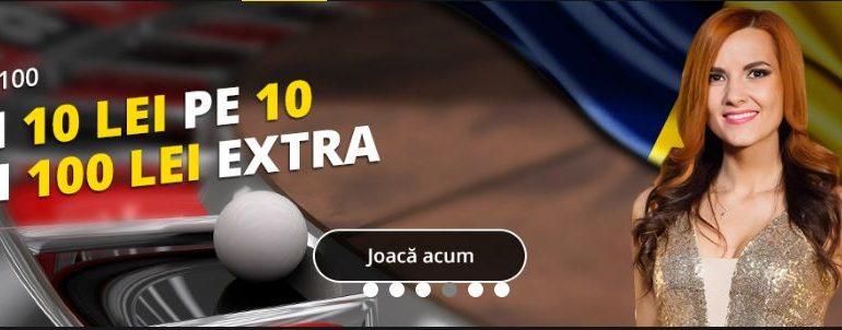 Bonus de 100 ron pentru pariurile castigatoare pe 10 la Live Roulette